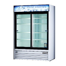 48 CuFt. 2 Sliding Glass Door Refrigerator