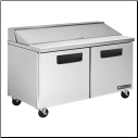 "2 Door 60"" Stainless Prep Table"